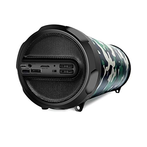 WOOZIK Rockit Go Portable Bluetooth Speaker, Wireless Boombox Indoor/Outdoor with FM Radio,Micro SD Card, USB, AUX 3.5mm Support, Rechargeable Battery, Strap for Travel - Camouflage