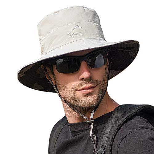 Panegy Protezione UV Cappello da Sole per Uomo Cappello Pieghevole Cappello da Trekking Traspirante Cappello Estivo All'aperto
