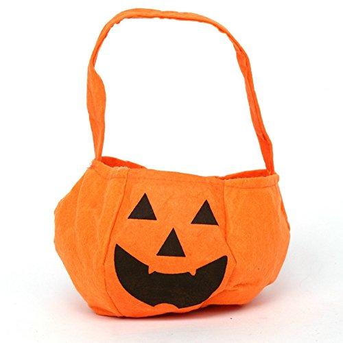 Heatigo Halloween Handtasche Halloween Kürbis Tasche Vliesstoffe Süßigkeiten Taschen Halloween Stereo Kürbis Tasche Kinder