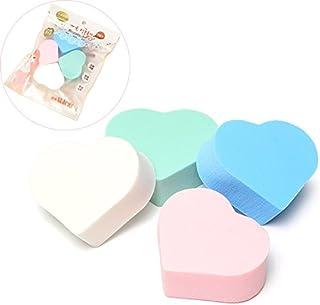 ICYCHEER 4 Stks Make-up Blender Comestic Sponge Puff hart vorm Foundation Finishiing gezicht schoonmaken Pad