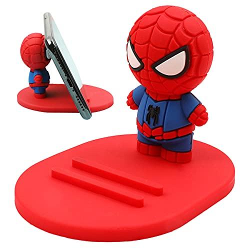 Miotlsy Support de téléphone Spiderman Support pour Tablette et Smartphone, Support de téléphone de Bureau et Support de Tablette avec Angle réglable, Portable, (Rouge)