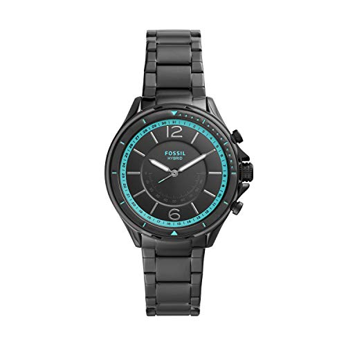 Fossil Women's Sadie Stainless Steel Hybrid Smartwatch, Color: Black (Model: FTW5081)