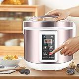 HUKOER 5L Fermentador de ajo Negro Todo-en-uno máquina de fermentación Inteligente ajo pote eléctrico para hogar Olla de ajo Negro automático