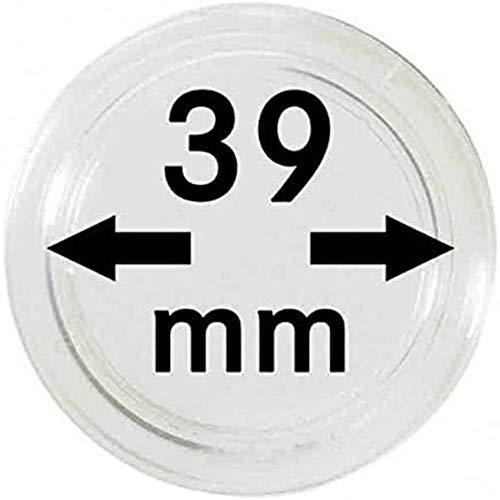 Lindner Münzkapseln für Münzen Ø 14 - 50 mm. Zur Wahl per 1, 5, 10, 100 Stück (39 mm - per 10)