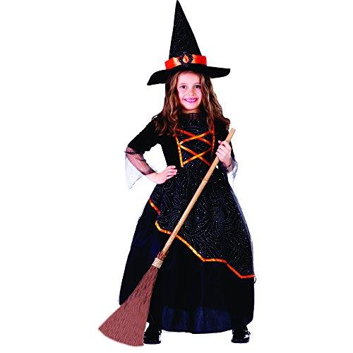 Dress Up America Costume de sorcière noire et orange de petite fille
