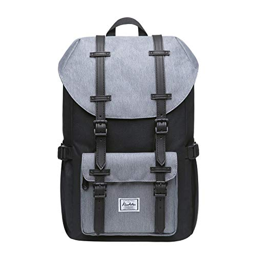 KAUKKO Laptop Outdoor Backpack, Travel Hiking& Camping Rucksack Pack, Casual Large College School Daypack, Shoulder Book Bags Back Fits 13' Laptop & Tablets Mini Size(7blackgrey)