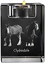 Clydesdale, Crystal Candlestick, Candle Holder with Horse, Souvenir, Limited Edition