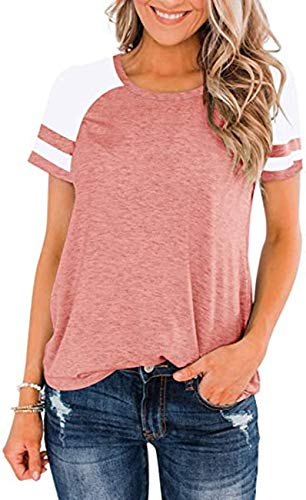 Camiseta De Manga Corta Suelta A Juego con Cuello Redondo De Primavera Y Verano para Mujer