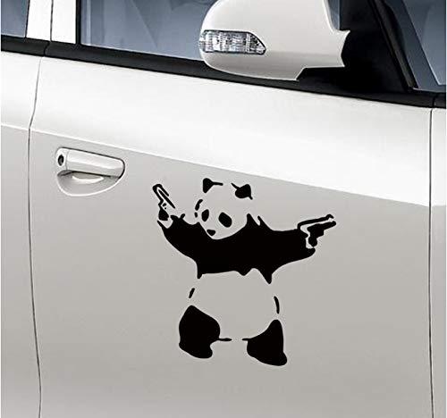 hfwh Muurtattoo - Cartoon Schattige panda gesneden muurpost van kinderkamer decoreren auto decoratief aan de muur 10x10cm