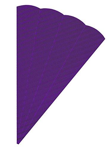 folia 92031 - Schultüten Rohlinge, aus 3D Wellpappe, lila, 5 Tüten, Höhe 68 cm, Durchmesser 20 cm - zur Erstellung einer individuellen selbst gebastelten Zuckertüte