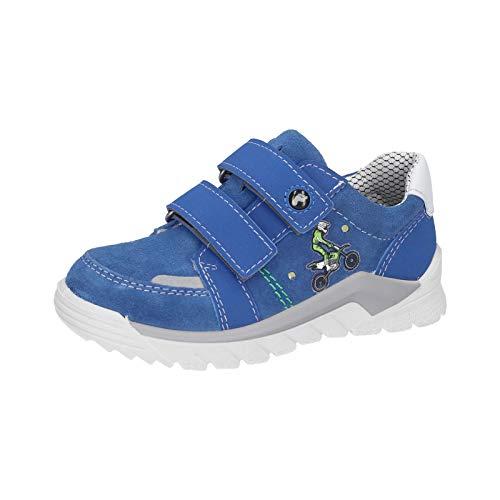 RICOSTA Kinder Sneaker BOBI, Weite: Mittel (WMS),lose Einlage,Blinklicht,Klettschuhe,Klettverschluss,Kinderschuhe,Kids,Azur (153),29 EU / 11 Child UK