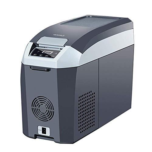YLLN 14L Coche refrigerador Coche compresor refrigerador Mini refrigerador Coche hogar Doble Uso refrigerador y Calentador eléctrico refrigerador portátil DC12V / 24V / 220V