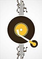 igsticker ポスター ウォールステッカー シール式ステッカー 飾り 1030×1456㎜ B0 写真 フォト 壁 インテリア おしゃれ 剥がせる wall sticker poster 011939 音楽 音符 シンプル