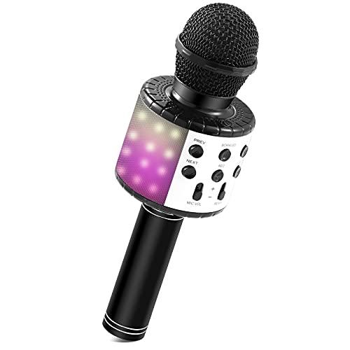 Microfono Karaoke, Microfono Bluetooth per Bambini Regalo Bambina 5 6 7 8 9 10 11 12 Anni Giocattoli Bambina 3 5 6 8 11 12 13 14 Anni Microfono Bambini Giochi Bambini 3 4 5 6 7 8 9 10 Anni