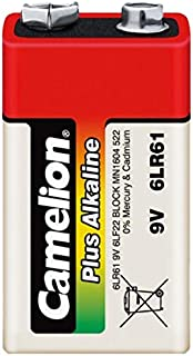 Camelion 11100122 Plus Alkaline Batterien 6LF22 9 Volt Block/ 1 Stück Schrumpfverpackung