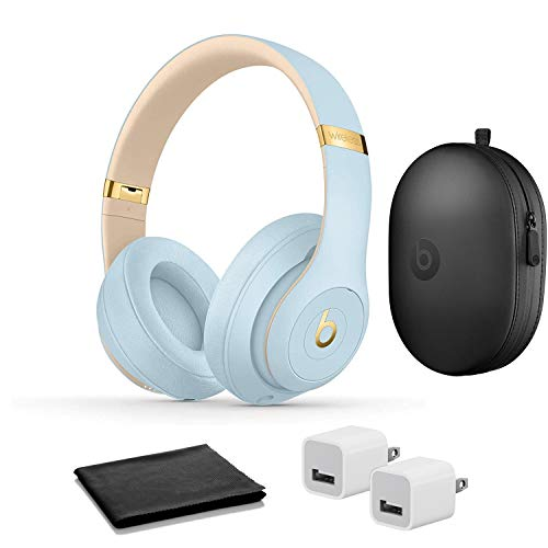 Beats Studio3 Wireless Noise Cancelling On-Ear Headphones - Crystal Blue with USB Adapter