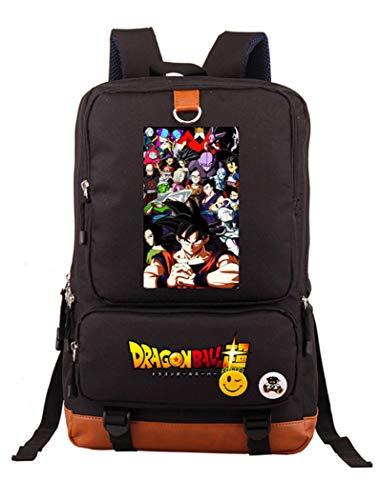 Cosstars Dragon Ball Anime Borsa da Scuola Cartella Studenti Rucksack Zaino Zainetto Laptop Backpack Nero /1