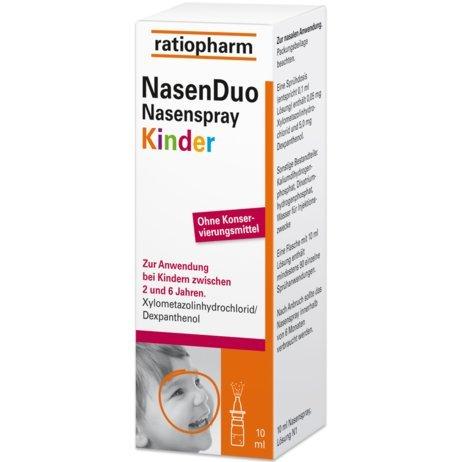 Ratiopharm NasenDuo für Kinder zwischen 2-6Jahren zur Abschwellung der Nasenschleimhaut bei Schnupfen und zur unterstützenden Behandlung von Haut- und Schleimhautschäden , Spar-Set 5x10ml