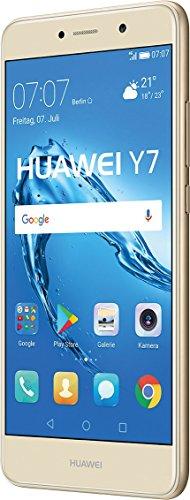 Huawei Y7 Smartphone (14 cm (5,5 Zoll) Bildschirm, 16 GB Speicher, Android 6.0) grau/gold
