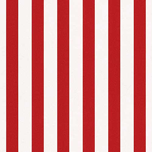 Rasch Tapeten Papiertapete (kindgerecht) Weiß Rot 10,05 m x 0,53 m Bambino XVIII 246032 Tapete