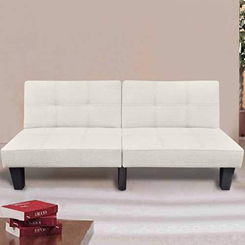 N / A vidaXL Schlafsofa mit Schlaffunktion - 3 Sitzer Sofa, Couch, Bettkasten, Bettsofa, Schlafsofa, Polstersofa, Beige, 162 x 77 x 69 cm