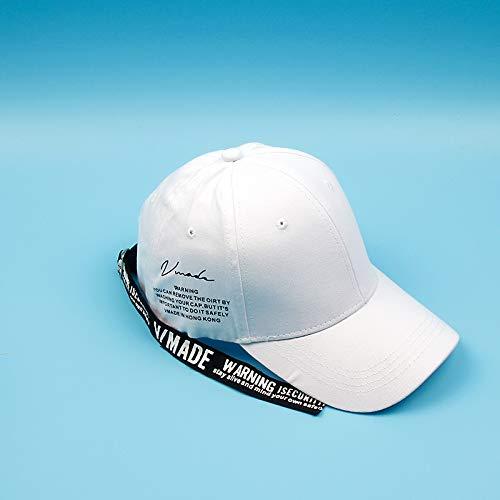 Nuevo Sombrero Femenino Primavera y Verano Gorra de béisbol con Estampado de Letras Coreanas Moda Todo fósforo Sombrero para el Sol Personalidad
