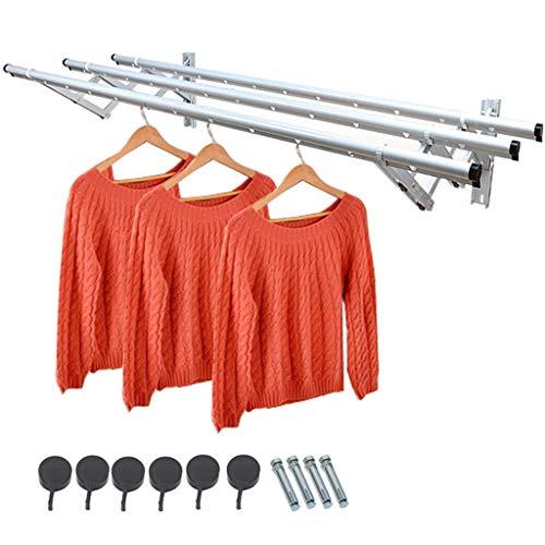 ZXZY Clothesline Clothesline Extensible Tendedero de Ropa Plegable Pared Retráctil Línea de...