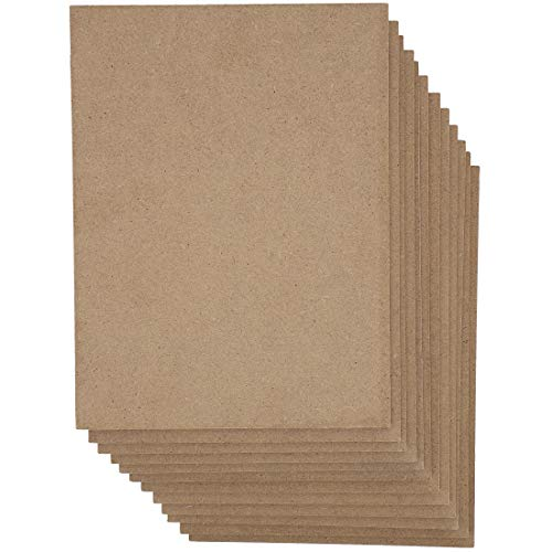 MDF Board, Chipboard Sheets for Crafts (9 x 12 in, 12-Pack)