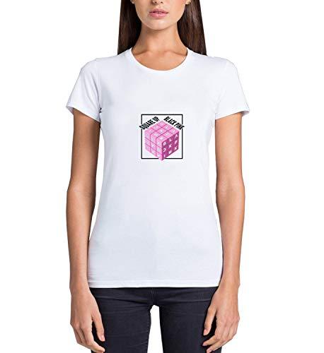 Kpop Kill This Black Love Pink_MRZ5597 Camiseta 100% algodón para mujer, suéter de verano, regalo, mujer casual - blanco - XX-Large