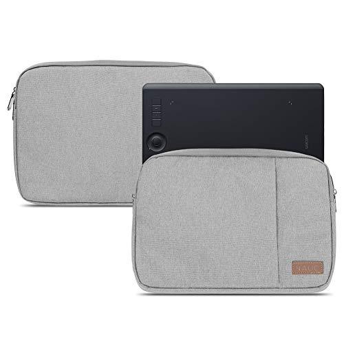 NAUC Schutzhülle für Wacom Intuos Pro M PTH-660 PTH-650 Tasche Grau Grafiktablett Hülle Cover Schutz Case