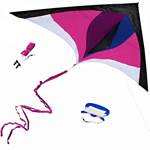 Best Delta Kite, Easy Fly for Kids and Beginners, Single Line w/Tail...