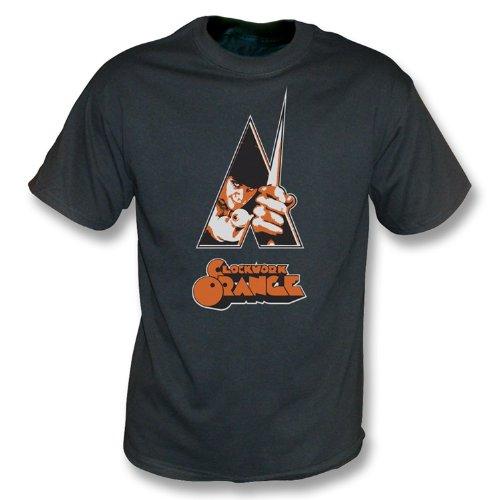 Camiseta anaranjada del lavado del vintage del cartel del mecanismo X-Grande, negro del vintage del color