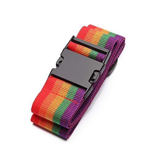 Kono Luggage Strap Adjustable Long Travel Packing Belt Colorful Suitcase Baggage Security Straps
