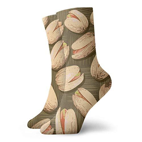 wonzhrui Neuheit Lustige verrückte Crew Socke Pistazien Nüsse Gedruckte Sport Athletic Socken 30cm Lange personalisierte Geschenksocken