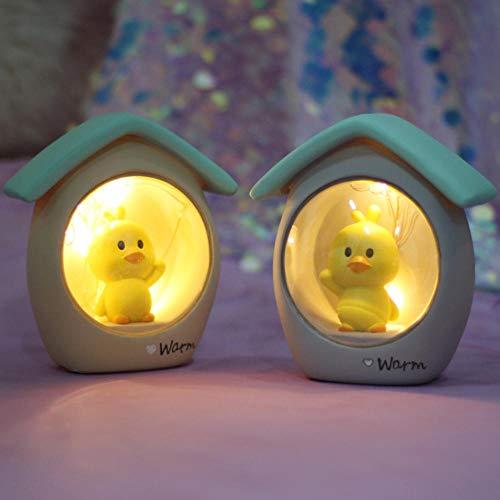 Gyjcd Een Kleine Gele Eend Nachtlampje Decoratie Decoratie Meisje Hart Ster Licht Meisje Kinderen Verjaardag Kerstcadeau