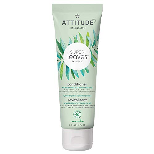 Attitude Super Hypoallergenic Nourishing Strenghtening Conditioner, Grapeseed Oil & Olive Leaves, 8 Fl Oz