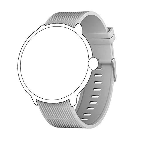 Bebinca Uhrenarmband aus Silizium 20mm Universal + Ladeger?t (grau)