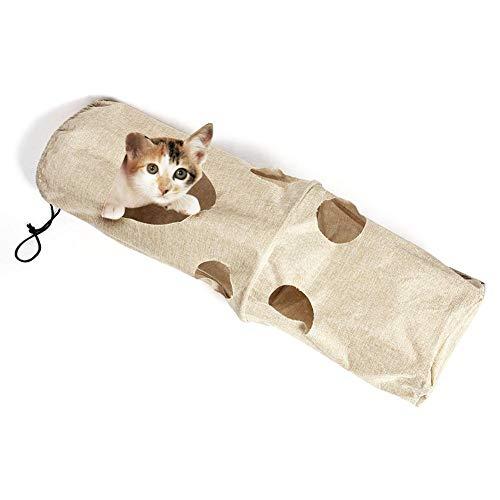 Katzentunnel Katzenspielzeug Spieltunnel Collapsible Cat Tunnel Toys Pet Tunnel und Tube Kitty Long Tunnel mit Peep Design für Katzen Welpen Kitty Kitten Rabbit