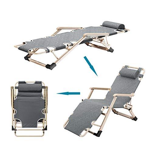 JKJ Sonnenliege, Folding Lehnstuhl mit Verstellbarer Rückenlehne DREI einstellbare Füße, Für Strand Patio-Garten Camping-Platz im Freien