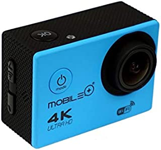 MOBILE+ Cámara Deportiva, Sport CAM, 4K, WiFi, 170º ángulo visión MB-SC1004(Azul)