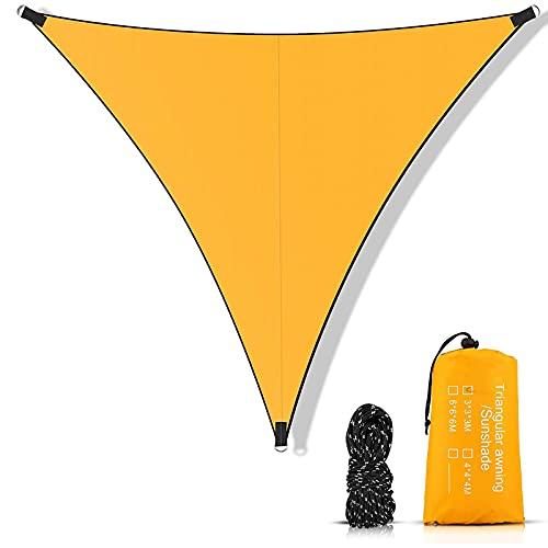 YDHNB Toldo Vela de Sombra Triangular, Protección Rayos UV Vela de Sombra, toldo Resistente e Impermeable, para Exteriores, jardín, Color Naranja,3x3x3m