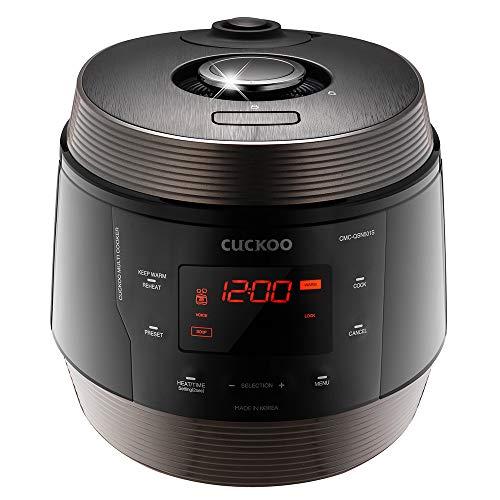 Cuckoo, Browning Fry, Steamer, Warmer, Yogurt, Soup Maker-Stainless Steel, Incl Multifunctional Rice Cooker, 5 Quarts, Black