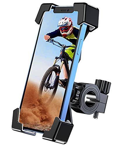 Cocoda Soporte Movil Bicicleta, [Bloqueo Una Tecla] Antivibración & Rotación 360° Soporte Movil Moto para Manillar Universal Scooter MTB Carrito Bebe Compatible con Teléfonos de 4.7-6.8 Pulgadas