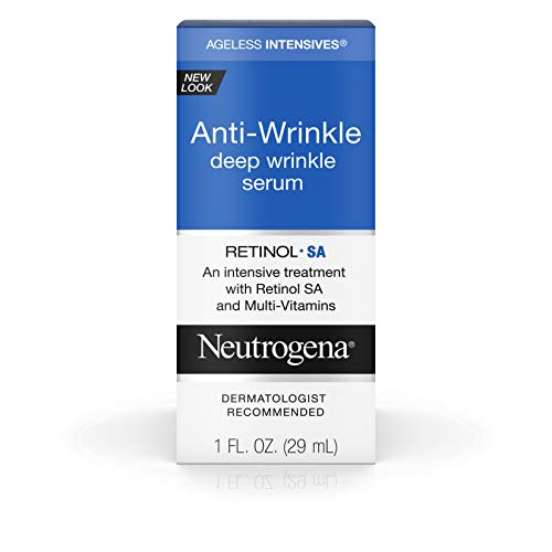 Neutrogena Ageless Intensives Anti Wrinkle Cream, Face Serum with Retinol SA - Face Moisturizer, wrinkle filler and Dark Circles with Glycerin, Retinol, Vitamin E, Vitamin A, 1 fl. oz (Pack of 2)