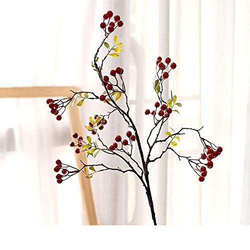 Simulación otoño fruta rica fruta sala de estar decoración de mesa flor Acebo rama de fruta americano arreglo mesa adornos