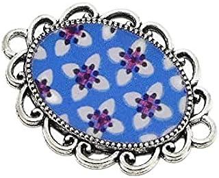 1 magnete sakura resina fiore Giappone blu bianco washi rosso regali personalizzati Natale amici compleanno cerimonia di n...
