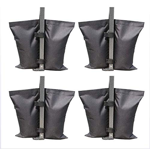 FDSAD Bolsas de Pesas para Gazebo Pop Up, 420D Oxford Canopy Gazebos Sandbag Pies Pesos Pensados / Pole Tent Solucion Fix Bolsas de Anclaje de Arena-4 Paquete