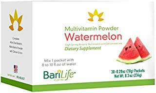 Bari Life Complete Bariatric Multivitamin Powder w/Calcium Citrate and Iron (Watermelon, 30)