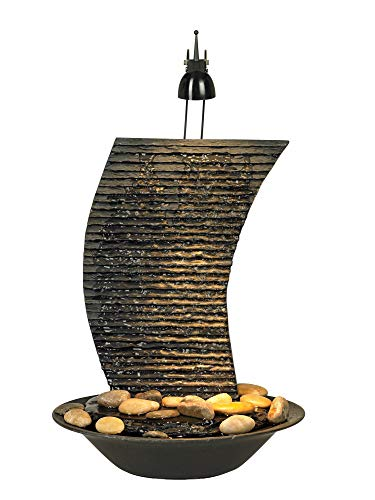 John Timberland Water Ripple 17 1/4' High Lighted Table Fountain