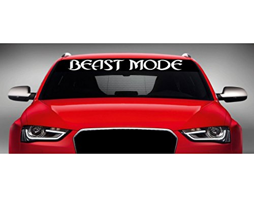 Noizy Graphics 40' x 4' Beast Mode - 4x4 Lifted Truck Windshield Sticker Car Window Vinyl Decal Color: Lime Green